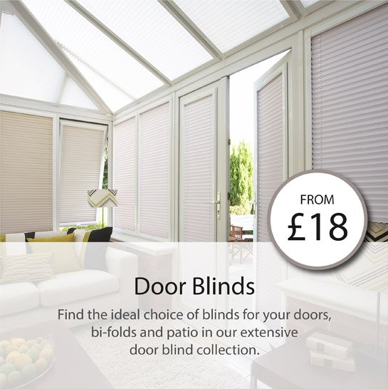 find the ideal choice of blinds for your doors, bi-folds and patio in our extensive door blind collection.
